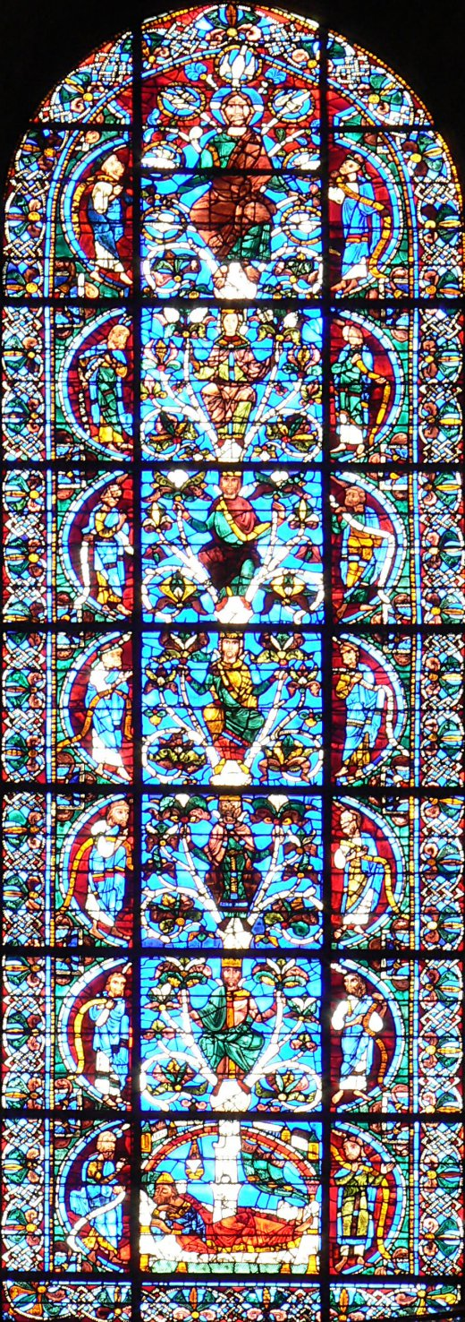 Vitrail de la cathédrale de Chartres, généalogie du Christ