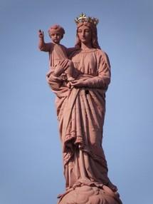 Saint Joseph s'occupe de Notre Dame de France pour les 150 ans de la Statue!