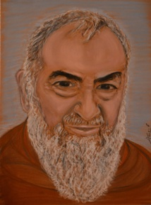 Portrait de Padre Pio, collection privée, reproduction interdite