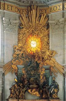 L'Esprit Saint descendant sur la chaire de Pierre, Basilique st Pierre de Rome
