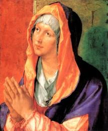 La Vierge Marie en prière, Dürer