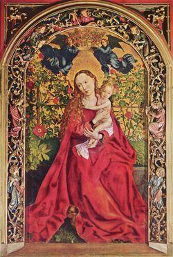La Vierge aux Roses, Schongauer.