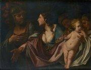 Les adieux d'Hector à Andromaque et son fils.