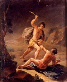 Caïn tuant son frère Abel, Vergara, Espagne, XIXème siècle