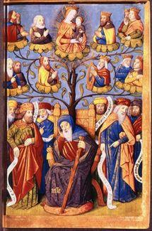 Arbre de Jessé, généalogie du Christ et symbole de l'arbre de Vie que sera la Croix