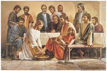 La Doctrine sociale, basée sur l'exemple du Christ. ( Lavement des pieds)