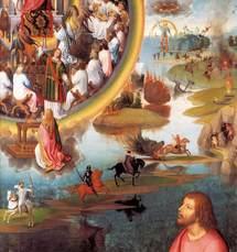 Memling, vision du Dragon de l'Apocalypse par saint Jean. Cliquez pour agrandir.