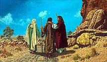 Les pélerins d'Emmaüs, l'accompagnement spirituel par le Christ....