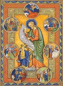 icône Les sept douleurs et allégresses de Saint joseph, art monastique de Flavigny.
