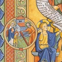 Détail de l'icône de saint Joseph. Pour plus de renseignements, www.clerval.com, site de l'abbaye Saint Joseph de Clairval.