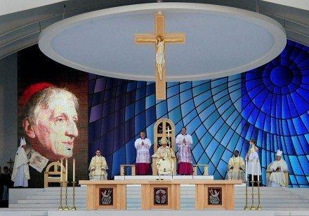 Béatification du cardinal Newman par Benoît XVI.