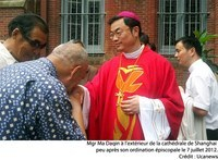 Mgr Daquin, le jour de son ordination épiscopale