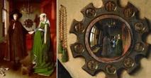 Dans ce célèbre tableau des époux Arnolffi, les époux se tiennent la main en signe d'union tandis que dans le miroir se reflète une image inversée où ils ne se tiennent pas la main : empêchement ?