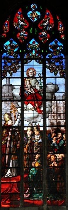 Proclamation par Pie IX de saint Joseph comme patron de l'Eglise. ( Amiens, Eglise st Michel)