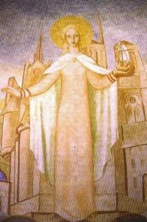 Sainte Geneviève de Paris, Vierge consacrée selon le rite de consécration des Vierges, par l'évêque de Paris. Elle gérait le patrimoine de ses parents ( c'est ainsi qu'elle utilisa sa fortune et ses terres pour défendre la ville), elle ne vivait pas dans une communauté, tout en ayant une vie de consécration publique. Une des plus anciennes consacrée dans le monde dont on connaisse bien la vie séculière.