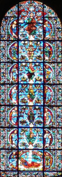 Vitrail de Chartres, généalogie du Christ selon saint Matthieu