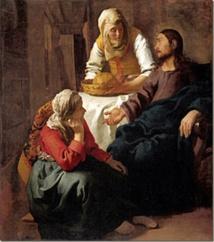 """La Vierge Consacrée unit dans sa vocation Marthe et Marie, elle ne renonce pas """" à la meilleure part"""" de la contemplation et elle sert """" comme un ferment"""" le Royaume."""