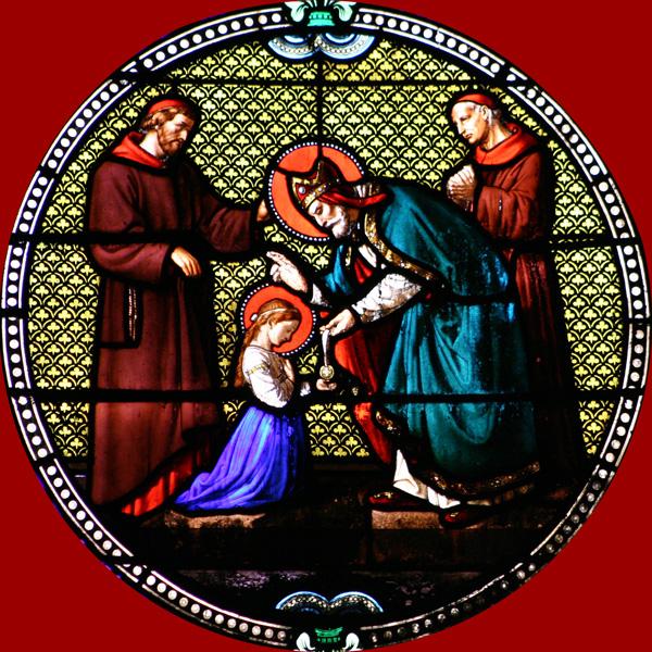 Sainte Geneviève et l'Evêque Saint Germain
