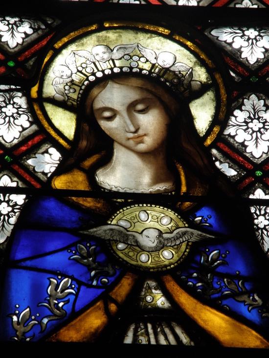 Marie et l'Esprit Saint, église de st Front, Haute-Loire