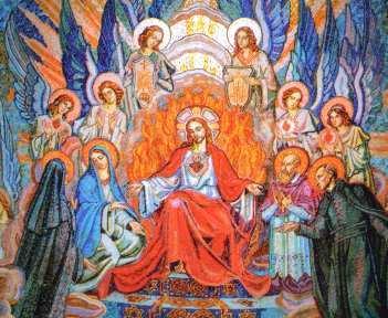 Paray le monial, chapelle du père de la Colombière, vision de ste Marguerite Marie demandant la fête du Sacré Coeur
