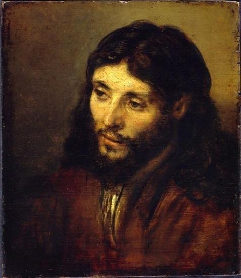 Christ peint par Rembrandt, Gemäldegalerie, Berlin. Le Christ est représenté dans son humilité et son rayonnement  tout intérieur.