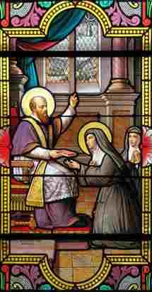 Saint François de Sales et Sainte Jeanne de Chantale, qu'il accompagna en tant qu'épouse, puis en tant que veuve et fondatrice de la Visitation