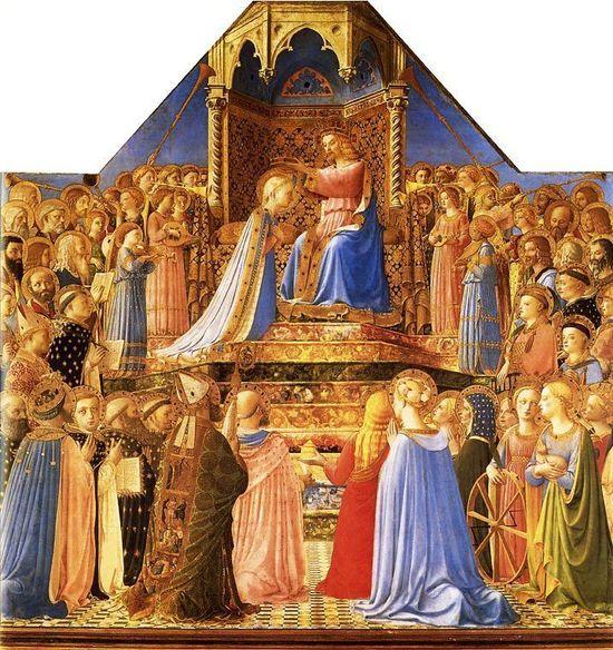 Fra Angelico, couronnement de la Vierge