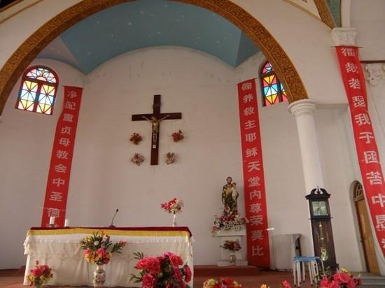 Intérieur du Sanctuaire chinois de Ping Yin Shan, Sanctuaire dédié à Saint Joseph, Patron de la Chine.
