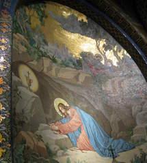 Agonie au jardin des Oliviers, mosaïque de Lourdes