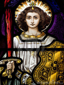 L'Archange Saint Michel et l'accusateur.