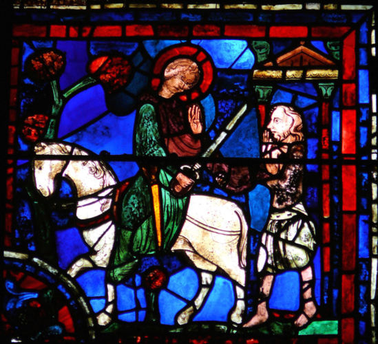 Saint Martin, évêque de Tour, allégorie de la charité pastorale.