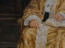 peinture de JP II, détail rosaire et bible