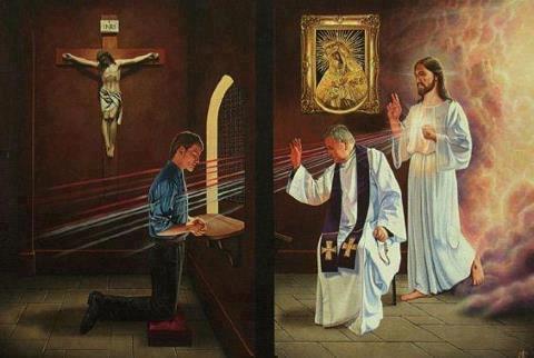 """La meilleure """" pub"""" pour la confession...c'est ceux qui sortent du confessionnal!"""