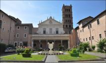 L'actuelle église Sainte Cécile du Trastevere, construite sur la Domus Caecillia. Les fouilles ont mis à jour de nombreux vestiges paleochrétiens.