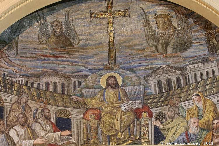 Rome, basilique de ste Pudentiana, première Vierge ayant reçu le voile avec sa soeur Praxède morte martyre, à l'époque de saint Pierre et saint Paul. La basilique est construite sur la maison du patricien Pudens cité par Saint Paul et chez qui Pierre séjourna aussi. les deux filles de Pudens sont considérées comme les premières Vierges de l'Ordo Virginum, d'après les recherches de Dom Guéranger.