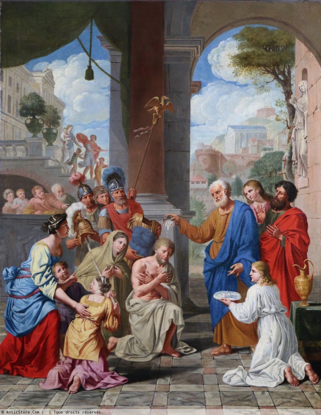 Baptême du Centurion Corneille et de sa famille par saint Pierre